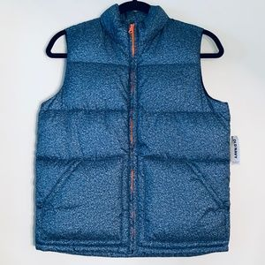 NWT Old Navy | Blue Speckle Frost Free Puffer Vest